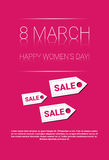 8 March International Women Day Sale Shopping Discount Stock Image