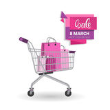 8 March International Women Day Sale Shopping Discount Stock Photography