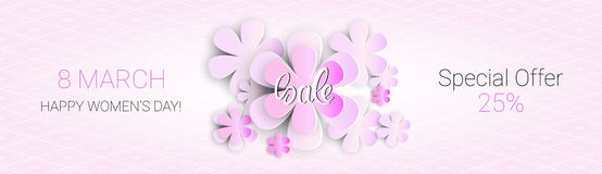 8 March International Women Day Sale Shopping Discount Royalty Free Stock Image