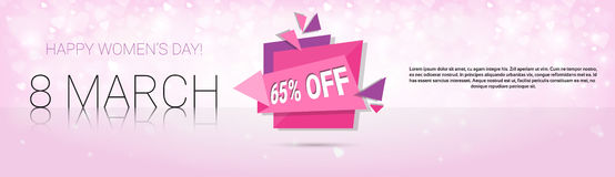 8 March International Women Day Sale Shopping Discount Royalty Free Stock Photos