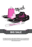 8 March International Women Day Sale Shopping Discount. Flat Vector Illustration Royalty Free Stock Photography