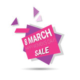 8 March International Women Day Sale Shopping Discount. Flat Vector Illustration Stock Photography