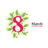8 March Women`s Day greeting card Stock Image
