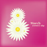 8 March Women`s Day greeting card Stock Photography