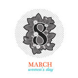 8 March Women`s Day greeting card Royalty Free Stock Photos