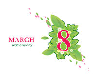 8 March Women`s Day greeting card Stock Images
