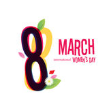 8 March Women`s Day greeting card Royalty Free Stock Images