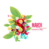 8 March Women`s Day greeting card Royalty Free Stock Photography