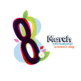8 March Women`s Day greeting card Royalty Free Stock Image