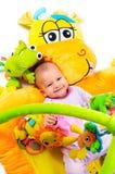 8 meses del bebé Imagenes de archivo