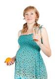 8 meses saudáveis da mulher gravida Fotografia de Stock Royalty Free