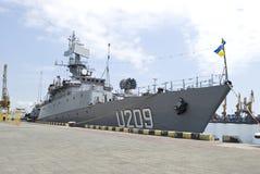 8 mogą militarny Odessa statku Ukraine ukrainian Fotografia Royalty Free
