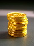 8 mynt royaltyfria bilder