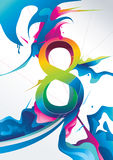 8 number vector. Illustration over a color background Stock Photos