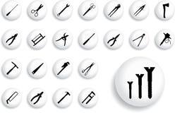 8 outils réglés grands par boutons de b illustration libre de droits