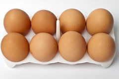 8 ovos em um pacote Imagens de Stock Royalty Free