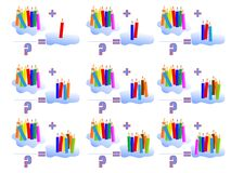 8 påfyllande cdr som lärer mathvektorn royaltyfri illustrationer