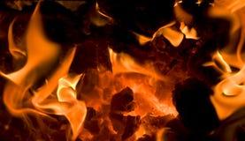 8 płonących embers zdjęcie stock