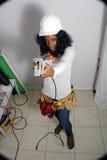 8 piękny budowy kobiety pracownik Zdjęcia Royalty Free