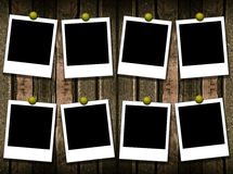 8 polaroid frames Royalty Free Stock Image