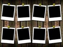 8 polaroid frames Royalty Free Stock Image