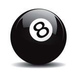 8 pool. Snooker 8 pool  drawing Stock Photo
