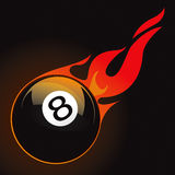 8 pool fire ball. Drawing Royalty Free Stock Photography