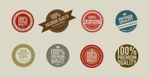 8 retro vintage sticker. 8 colorfull retro vintage sticker Royalty Free Stock Image