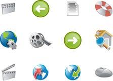 8 serii ikon varico sieci Obrazy Royalty Free
