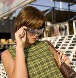 8 shoppa sunglass Fotografering för Bildbyråer