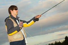 8 som flyfishing Royaltyfri Fotografi