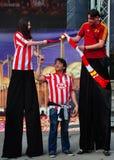 8 spanska fira ventilatorer Royaltyfri Bild