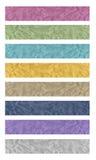 8 sztandarów tkanina Zdjęcia Royalty Free