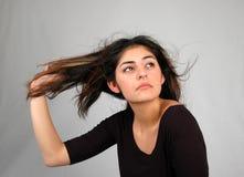 8 tańczącego włosy fotografia stock