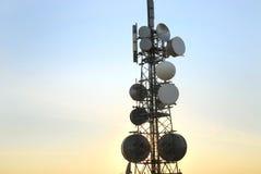 8 tower telekomunikacyjnych Obraz Royalty Free
