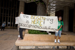 8 upptar anti apec honolulu protest Royaltyfri Bild
