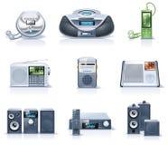 8 urządzeń gospodarstwa domowego ikon część wektor