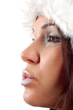 8 vinter kvinna Arkivbild