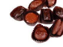 8 vita choklader Arkivbild