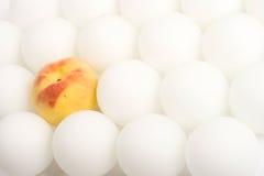8 vita fruktspheres Fotografering för Bildbyråer