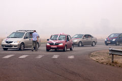 8 von August 2010. Moscower Region unter Rauche Stockbilder