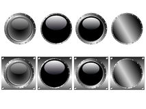 8 Web Buttons icons Stock Images