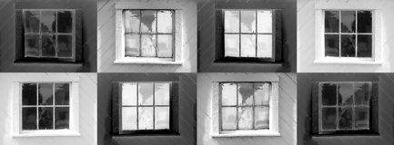 8 windows. Assembly of 8 window variations. Can be used singly or as a whole. Tends to be extremely eye catching in large format Royalty Free Illustration
