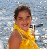 8 year old Model on the water Royalty Free Stock Images