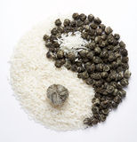 8 yin - Yang Fotografia Stock