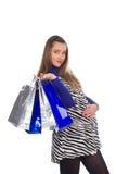 8 zakupy urocza ciężarna kobieta Zdjęcie Stock