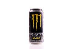 80个品牌饮料能源m妖怪 库存图片