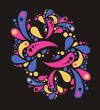 80 χρωματισμένο ύφος διακο&s απεικόνιση αποθεμάτων