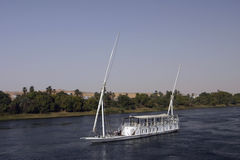 80 Boat on the Nile Royalty Free Stock Image