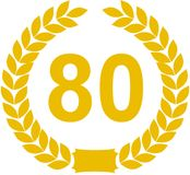 80 de Lauwerkrans van het jaar stock illustratie
